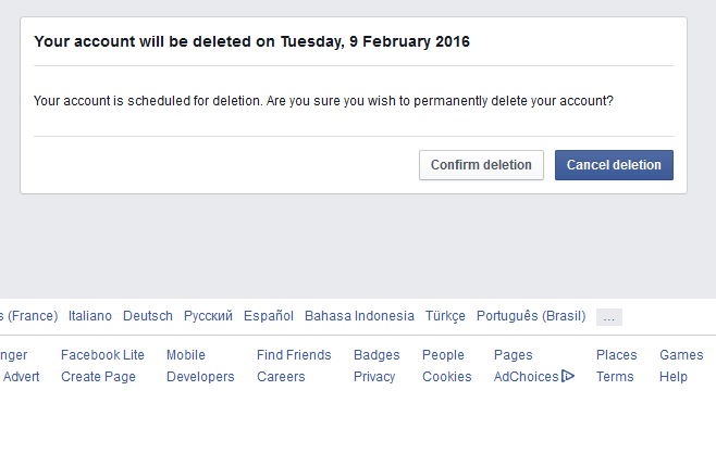 Deleting facebook account permanently egyshell web design deleting facebook account ccuart Image collections